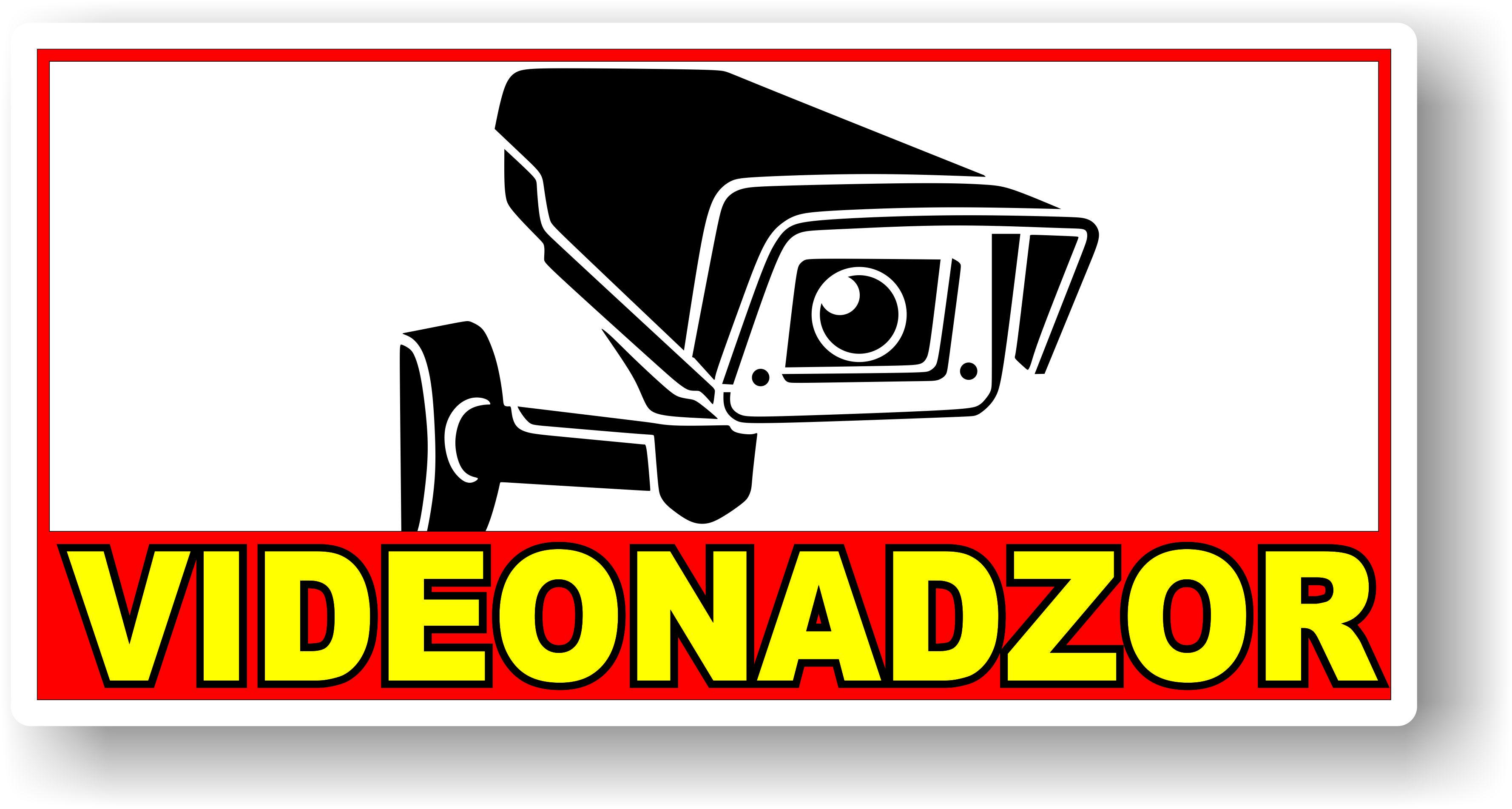 Nalepka Videonadzor 28cm X 14cm Baza32